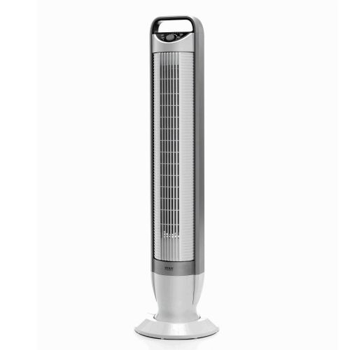 Seville Classics Ultra Slimline Energy Saving Tilt Tower Fan with Remote Control